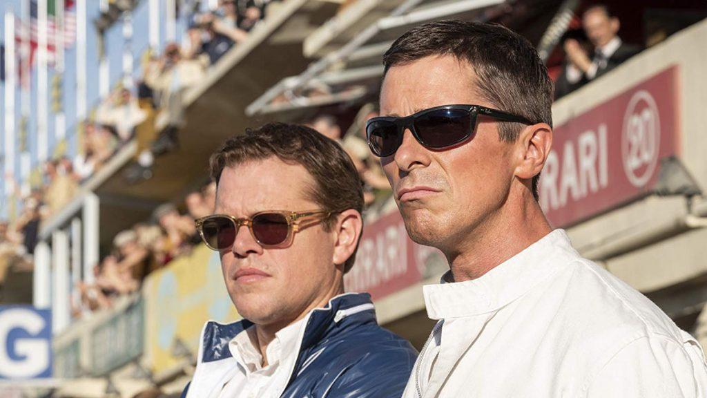 Matt Damon dan Christian Bale dalam film Ford v Ferrari