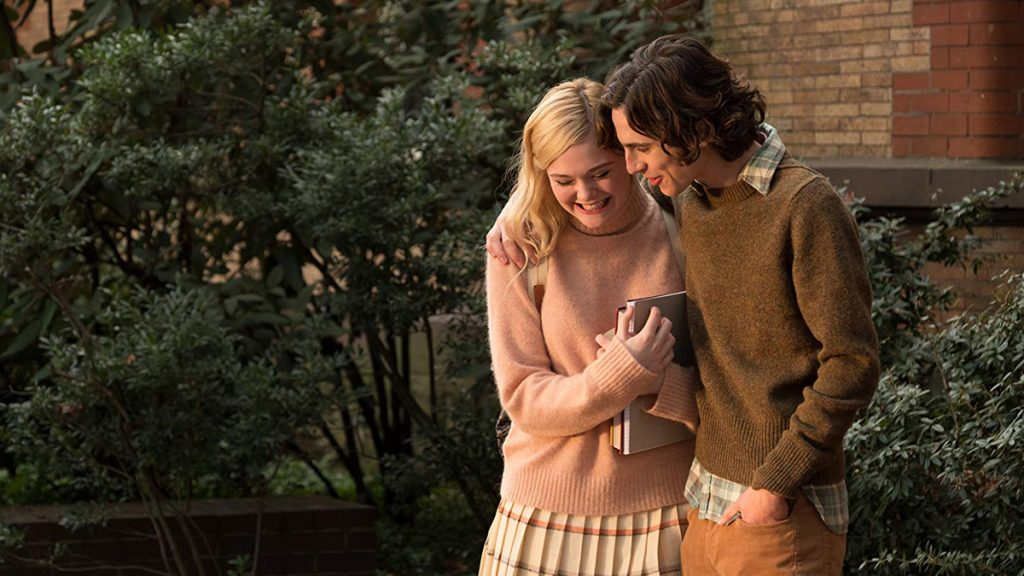 Timothee Chalamet dan Elle Fanning dalam A Rainy Day in New York (2019)