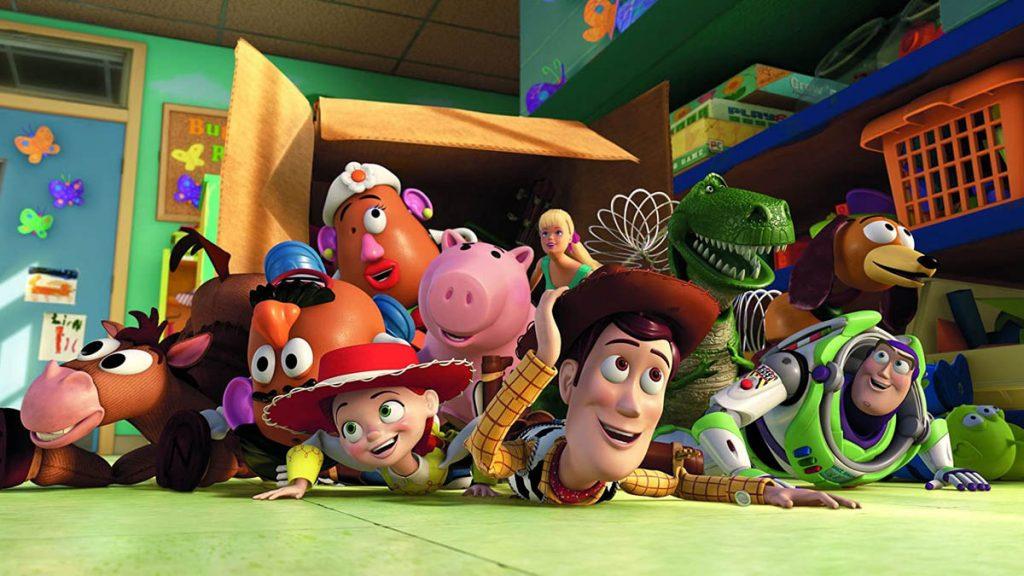Woody, Buzz Lightyear dan kawan-kawan dalam Toy Story 3 (2010)