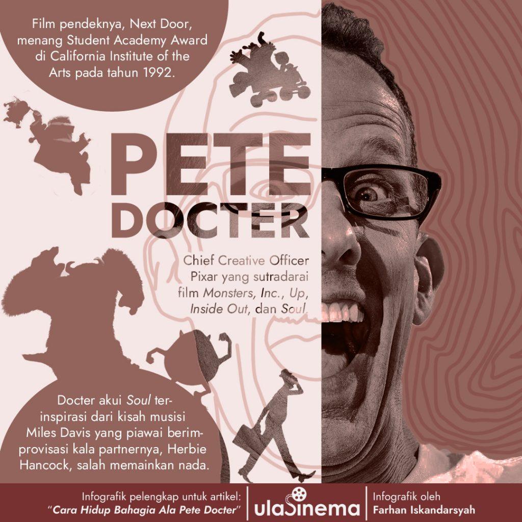 Infografik Cara Hidup Bahagia ala Pete Docter
